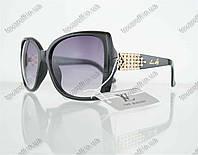 Оптом очки женские солнцезащитные брендовые Louis Vuitton (Луи Витон) - Черные - 0851