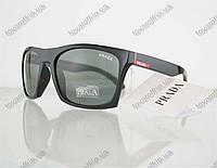 Очки мужские солнцезащитные брендовые Prada (Прада) - Черные - 5155, фото 1