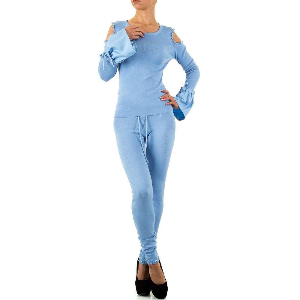Женский костюм с нарядным топом (Европа), Голубой