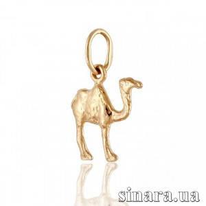 Золотая подвеска Верблюд Кэмэл 7540