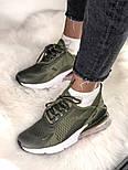 Жіночі кросівки Air Max 270 Khaki. Живе фото, фото 8
