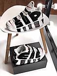 Мужские кроссовки Air Uptempo White Supreme. Живое фото (Реплика ААА+), фото 4
