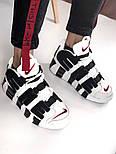 Мужские кроссовки Air Uptempo White Supreme. Живое фото (Реплика ААА+), фото 5