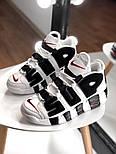 Мужские кроссовки Air Uptempo White Supreme. Живое фото (Реплика ААА+), фото 6