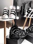 Мужские кроссовки Air Uptempo White Supreme. Живое фото (Реплика ААА+), фото 8