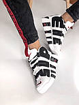 Мужские кроссовки Air Uptempo White Supreme. Живое фото (Реплика ААА+), фото 9