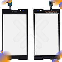 Тачскрин Sony C2305 Xperia C (S39h), цвет черный