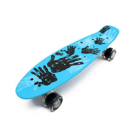 Скейт Пенни борд со светящимися колесами Penny Print Led 22 - Рука 54 см, фото 2