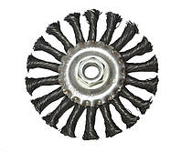 Щетка дисковая, плетеная проволока, 115 х M14 (68-055)