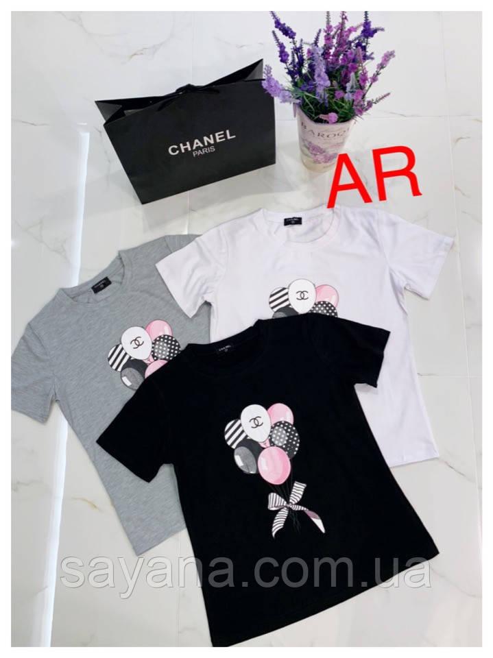 Купить Женскую футболку с накаткой в расцветках. АР-7-0219 недорого ... d6bed5b81dc65