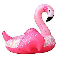 Надувной матрас Modarina Фламинго Цветочек 150 см Розовый PF3308