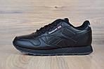 Женские кроссовки Reebok Classic с перфорацией, черные, фото 3