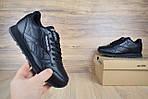 Женские кроссовки Reebok Classic с перфорацией, черные, фото 7