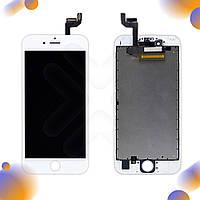 Дисплей iPhone 6S с тачскрином в сборе, цвет белый, копия высокого качества, уценка