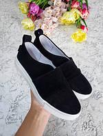 Черные слипоны мокасины балетки женские весна лето на белой подошве производство качественной обуви
