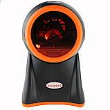 5-ти площинний лазерний сканер штрих-коду провідний AsianWell AW-1080 чорний (AW-1080), фото 2