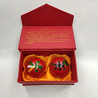 """Китайские шарики """"Дракон и феникс"""" красные (С0077), фото 1"""