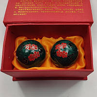 """Китайские шарики """"Сакура"""" зеленые в коробке (С0085), фото 1"""