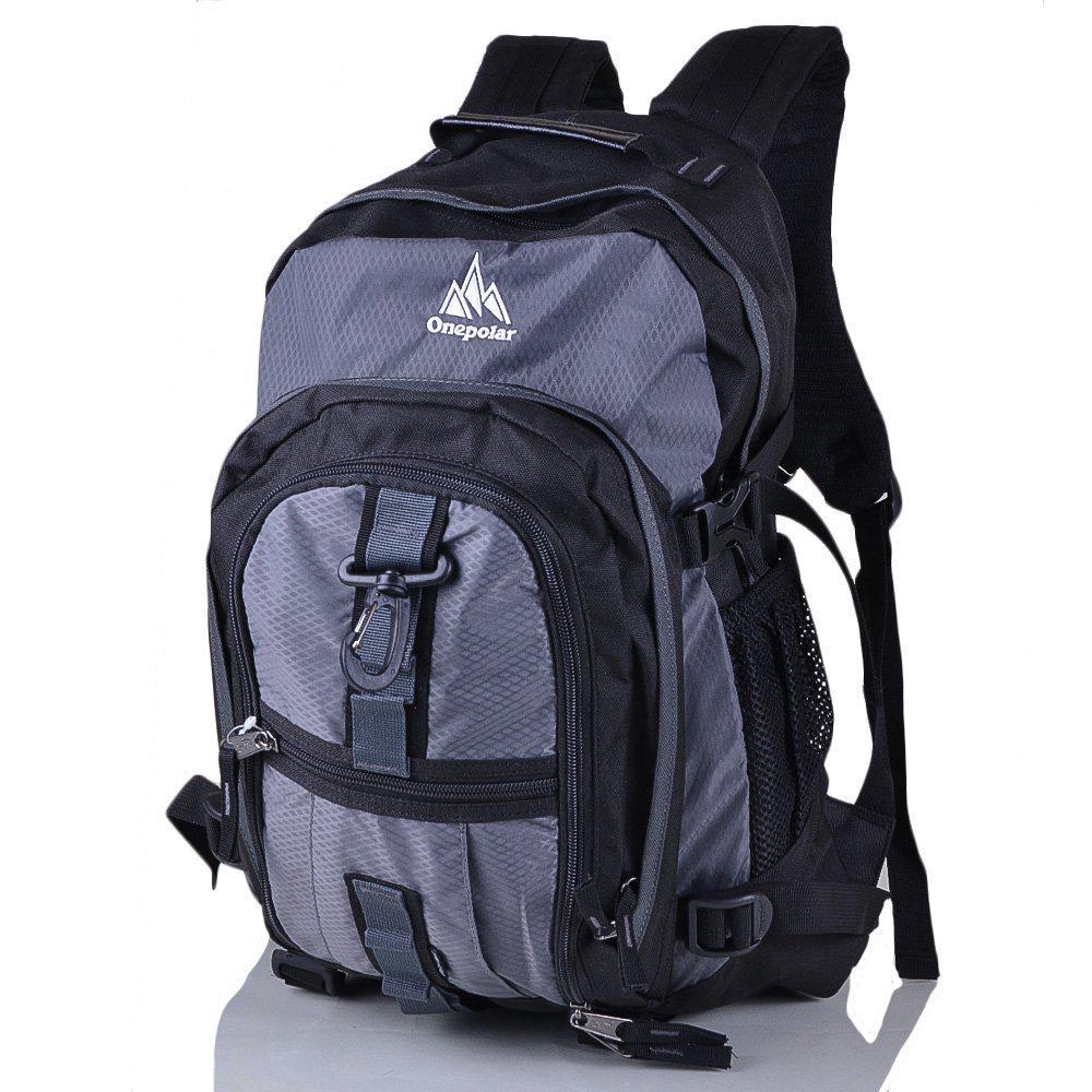dd8561b11f78 Рюкзак спортивный Onepolar Мужской рюкзак ONEPOLAR (ВАНПОЛАР) W1955-grey