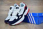 Кроссовки Adidas Falcon, белые с синим и красным, фото 5