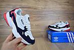 Кроссовки Adidas Falcon, белые с синим и красным, фото 6