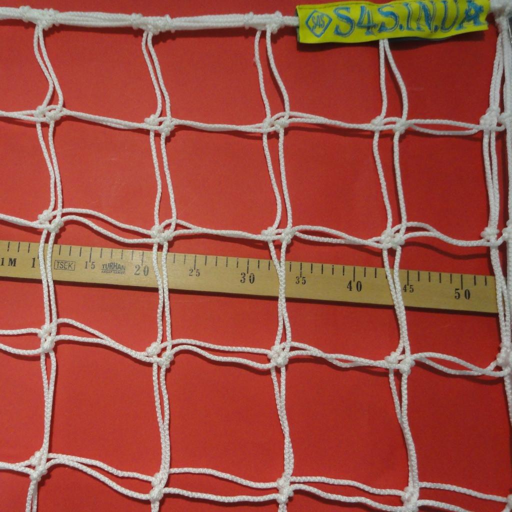 Сетка футбольная повышенной прочности «ЭЛИТ 2,1» белая (комплект из 2 шт.)
