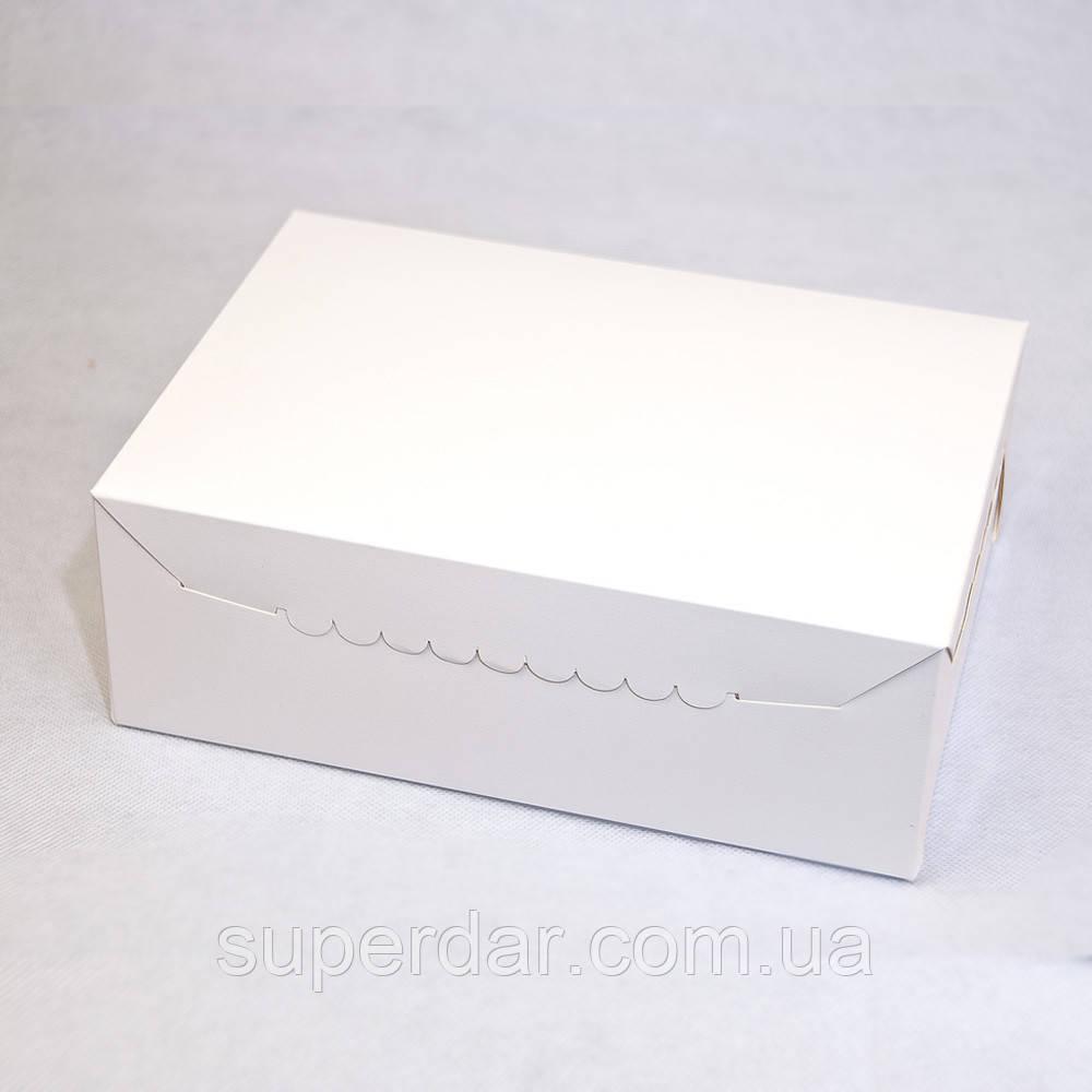 Коробка для 6 кексов, капкейков, маффинов, 255х180х90 мм, белая