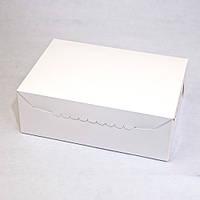 Коробка для 6 кексов, капкейков, маффинов, 255х180х90 мм, белая, фото 1
