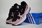 Кроссовки Adidas Falcon, розовые с черным и белым, фото 2
