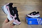 Кроссовки Adidas Falcon, розовые с черным и белым, фото 8