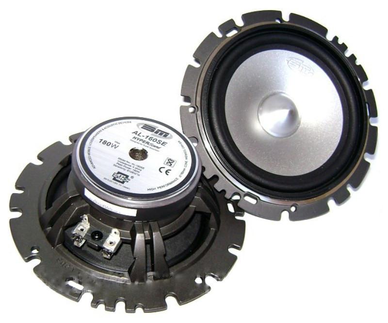 Акустика в машину динамики бошман Boschmann AL-160SE + компонент + кроссовер 180 Вт круглые колонки 160 мм