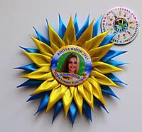 Значок Выпускник 9-ого класса с розеткой Астра