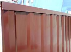 Верхня планка торцева Лайт, шоколад, вишня, синій, зелений, для паркану з профнастилу, 2 м, фото 3