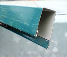 Верхня планка торцева Лайт, шоколад, вишня, синій, зелений, для паркану з профнастилу, 2 м, фото 2