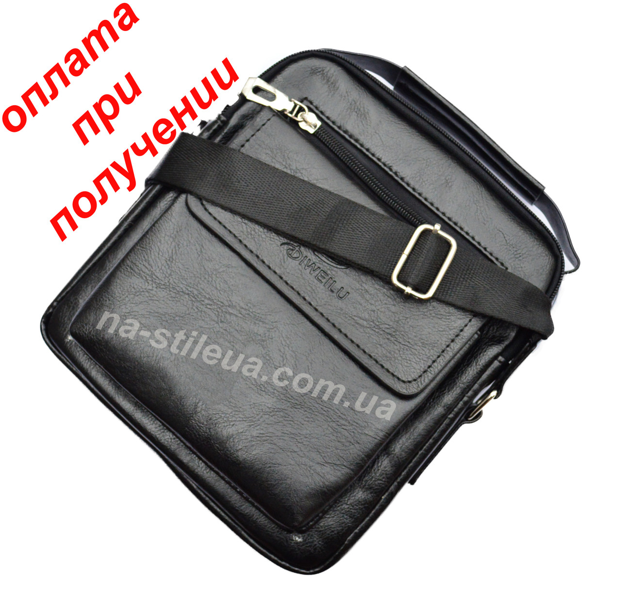 Мужская чоловіча кожаная натуральная сумка барсетка DIWEILU