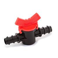 Кран кульовий прохідний Presto-PS для трубки 16 і 20 мм, в упаковці - 1 шт. (MV-012016)