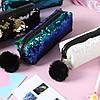 Двухцветный пенал в пайетках, фото 9