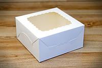 Коробка для зефира, печенья и десертов, 140х140х70мм, Белая, фото 1