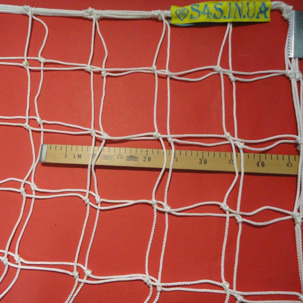 Сетка для футбола повышенной прочности «КАПРОН АНТИМОРОЗ» белая (комплект 2 шт.)