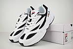 Кроссовки Fila Venom, кожаные, цвет — черный с белым, фото 8