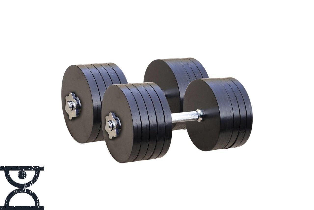 Гантели наборные стальные - 2 шт. по 53 кг