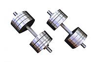Две гантели стальные по 35 кг