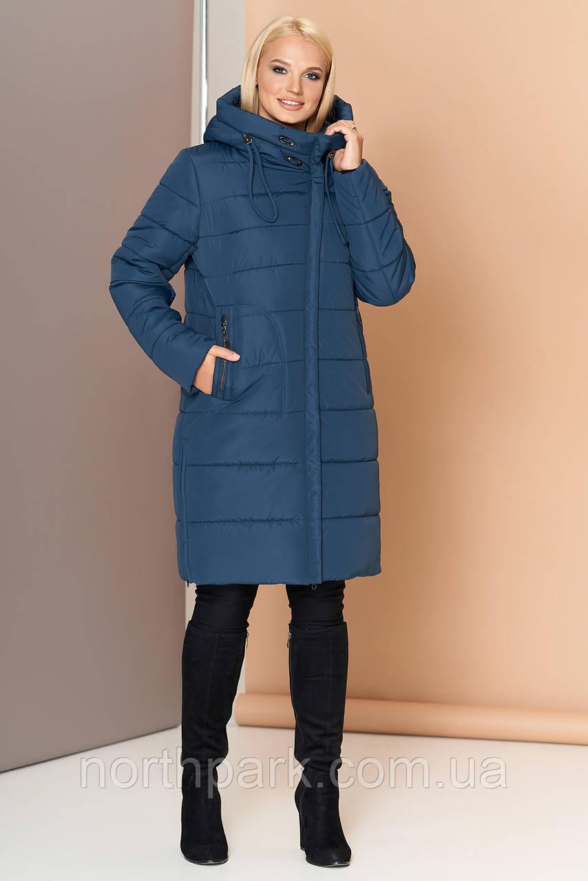 Довга зимова куртка VS 188, мурена, розмір 50