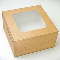 Коробка для зефира, печенья и десертов, 140х140х70мм, Крафт, фото 1