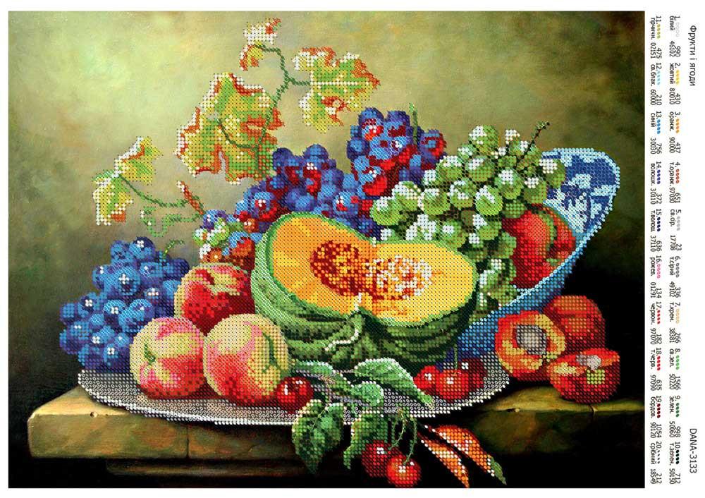 Схемы вышивка бисером фрукты