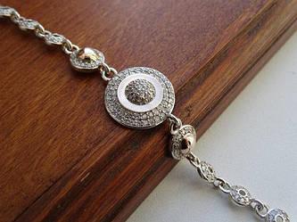Браслеты из серебра с золотыми пластинами