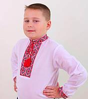 Вышиванка для мальчика Федор с красной вышивкой