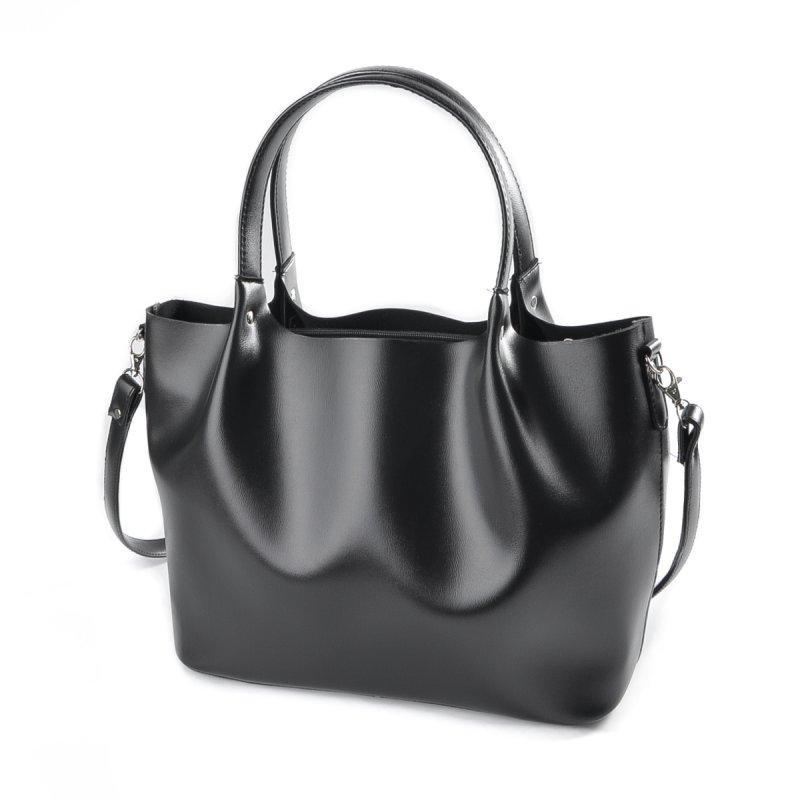 14cc78c6025a Женская сумка-шоппер М193-34 корзинка черная гладкая: продажа, цена ...