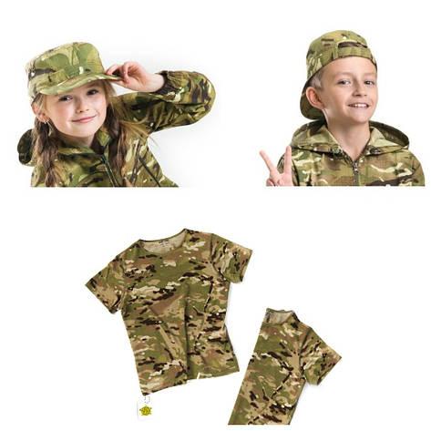 Детский камуфляж комплект футболка кепка СкаутMTP, фото 2