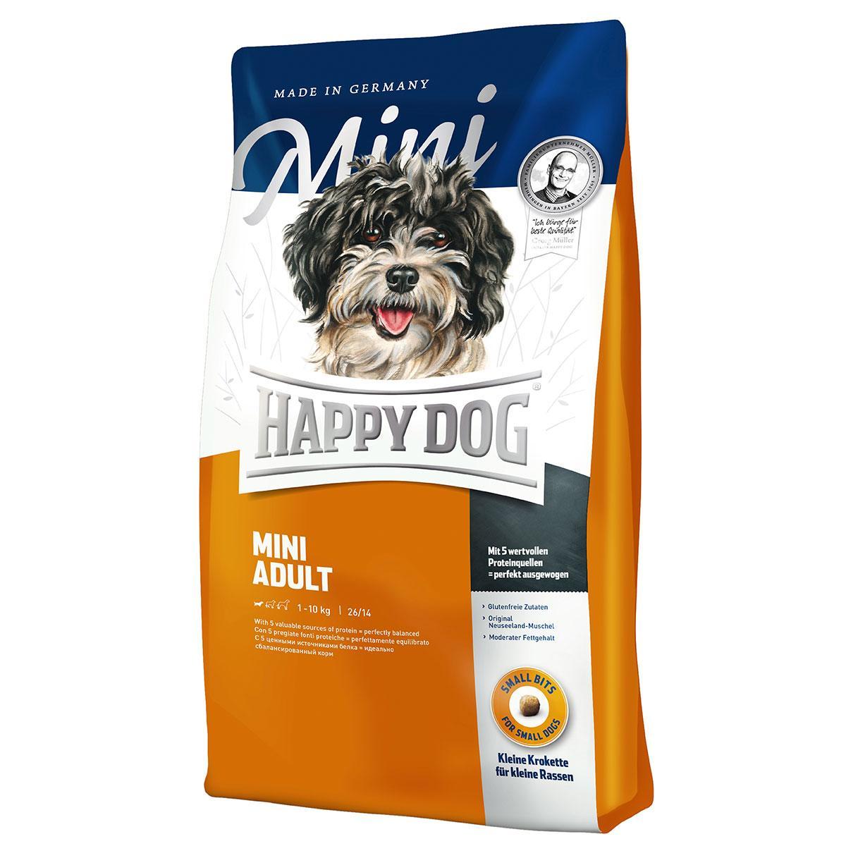 Happy Dog  Mini Adult - сухой корм для взрослых собак малых пород 10 кг